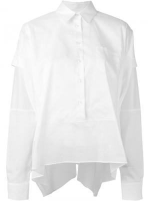 Структурированная рубашка Maison Margiela. Цвет: белый