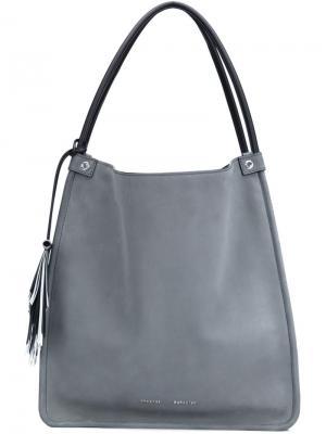 Средняя сумка-шоппер Proenza Schouler. Цвет: серый