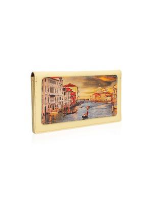Конверт для путешествий Венеция Eshemoda. Цвет: светло-желтый