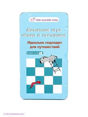 Игра настольная для путешествий Змеи и Лестницы  THE PURPLE COW. Цвет: синий