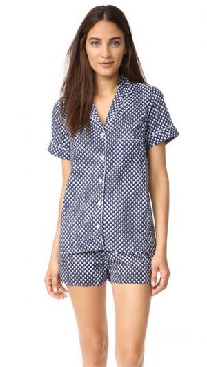 Пижама Belle Three J NYC. Цвет: темно-синий james/голубой цветочный рисунок