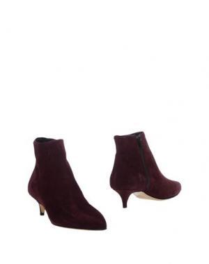 Полусапоги и высокие ботинки FABIO RUSCONI. Цвет: баклажанный