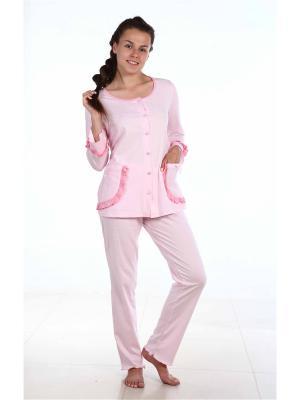 Пижама Pastilla. Цвет: бледно-розовый