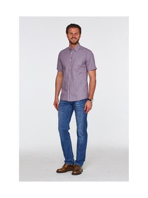 Рубашка Westrenger. Цвет: бордовый, синий