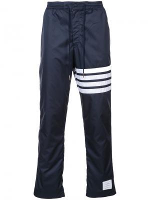 Прямые брюки с полосами Thom Browne. Цвет: синий
