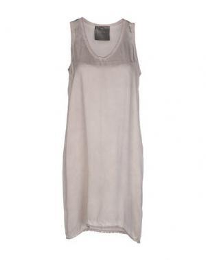Короткое платье ES'GIVIEN. Цвет: голубиный серый