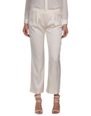 Повседневные брюки JASMINE DI MILO. Цвет: слоновая кость