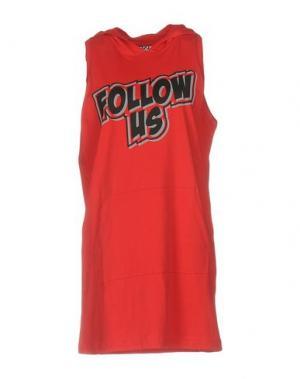 Короткое платье FOLLOW US. Цвет: красный