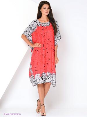 Туника текстильная Vittorio Richi. Цвет: коралловый