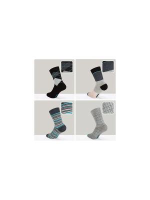 Носки Happy - 4 пары DiWaRi. Цвет: бирюзовый