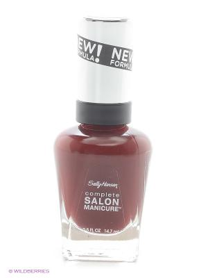 Лак для ногтей Salon Manicure Keratin, тон red zin #610 SALLY HANSEN. Цвет: темно-красный