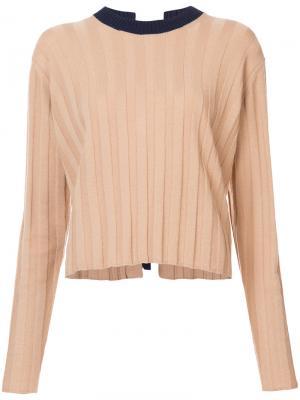 Вязанный свитер Derek Lam 10 Crosby. Цвет: коричневый
