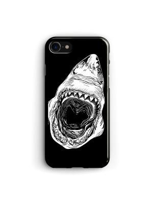 Чехол для iPhone 7/8 Акула Boom Case. Цвет: черный, белый
