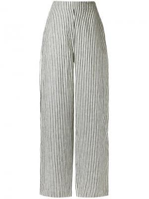 Striped palazzo pants Osklen. Цвет: серый