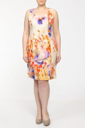 Платье Krizia. Цвет: бежевый, алый, сиреневый