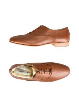 Обувь на шнурках LEONARDO PRINCIPI. Цвет: желто-коричневый