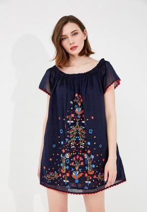 Платье Tory Burch. Цвет: синий