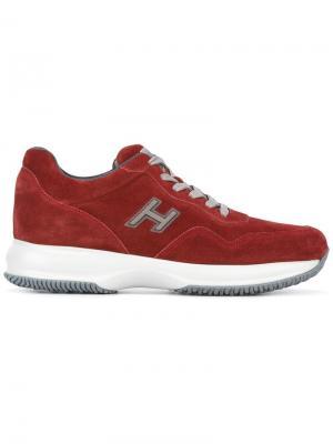 Кроссовки Interactive New H Vintage Hogan. Цвет: красный
