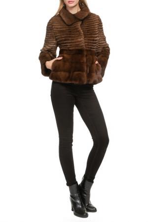 Short fur coat Manakas. Цвет: dark brown