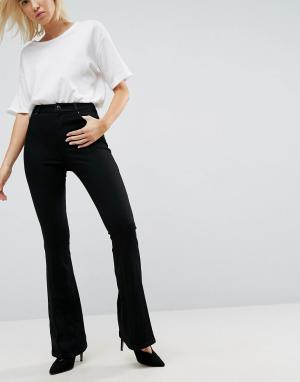 ASOS Черные расклешенные джинсы DESIGN. Цвет: черный