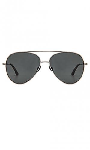 Солнцезащитные очки division Steven Alan. Цвет: металлический серебряный
