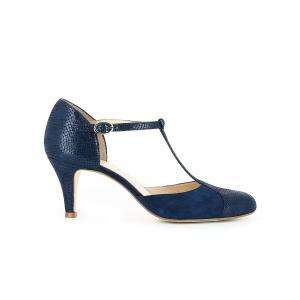 Туфли кожаные JONAK. Цвет: синий морской