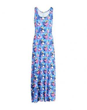 Длинное платье MC2 SAINT BARTH. Цвет: лазурный