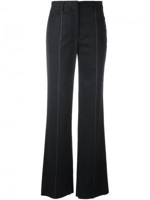Расклешенные брюки в тонкую полоску Salvatore Ferragamo. Цвет: серый