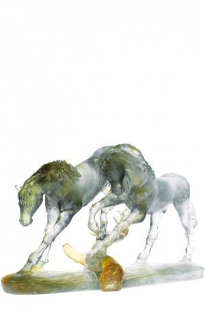 Скульптура Love Horses Daum. Цвет: бесцветный