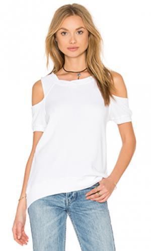 Свитшот с открытыми плечами Pam & Gela. Цвет: белый
