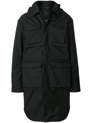 Приталенное пальто на пуговицах Norwegian Rain. Цвет: чёрный