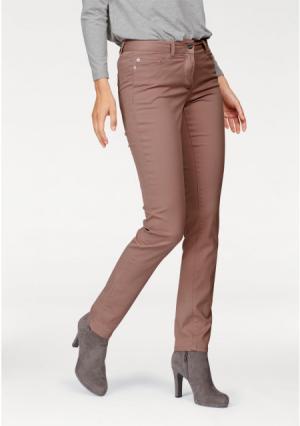 Джинсы-дудочки Aniston. Цвет: дымчато-розовый