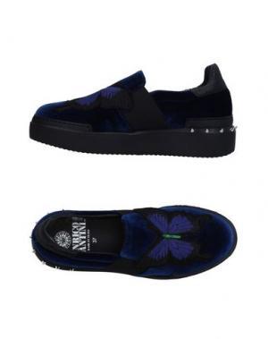 Низкие кеды и кроссовки ENRICO FANTINI. Цвет: синий