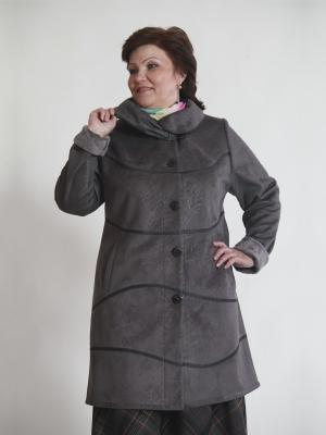 Пальто Кимберли VIKO. Цвет: серый