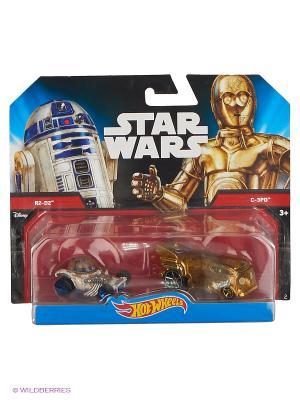 Машинки персонажей вселенной Звездные войны (упаковка из 2-х) Hot Wheels. Цвет: серебристый, золотистый