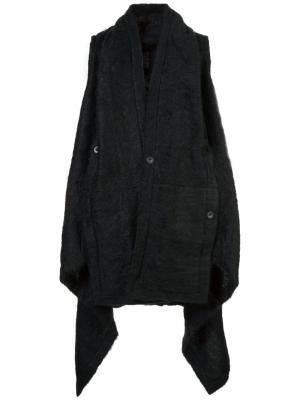 Расклешенное пальто свободного кроя Barbara I Gongini. Цвет: чёрный