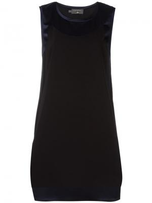 Платье с контрастной вставкой Cotélac. Цвет: чёрный