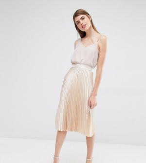 True Violet Плиссированная юбка миди. Цвет: золотой
