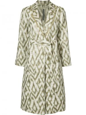 Однобортное пальто Raquel Allegra. Цвет: белый