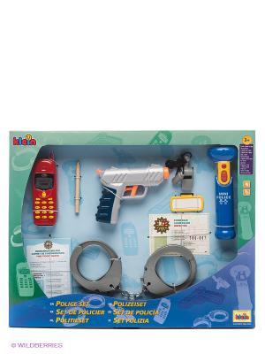 Набор полицейского с пистолетом 10 предметов KLEIN. Цвет: синий