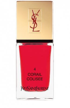 La Laque Couture Лак для ногтей №4 YSL. Цвет: бесцветный