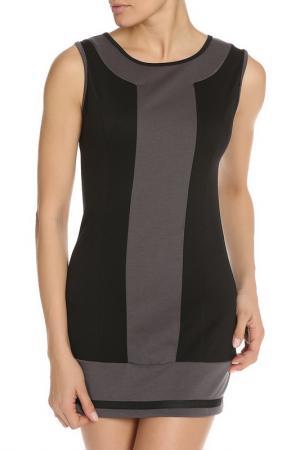 Платье SO.DA. Цвет: черный, серый