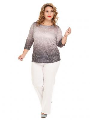 Блуза Серебро Царевна. Цвет: серый