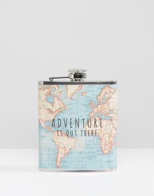 Sass & Belle Плоская фляжка Adventure is Out re. Цвет: мульти