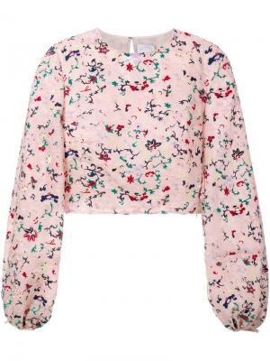 Блузка Roseanne Huishan Zhang. Цвет: многоцветный