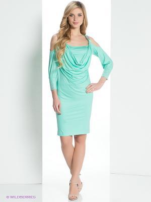 Платье MARY MEA. Цвет: бирюзовый