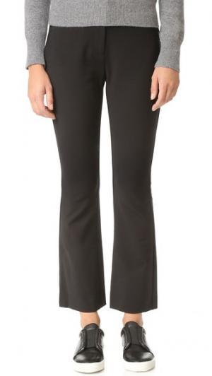 Узкие расклешенные костюмные брюки Rebecca Taylor. Цвет: голубой