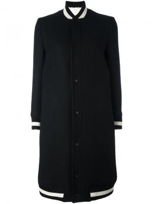 Пальто в стиле бомбера The Reracs. Цвет: чёрный