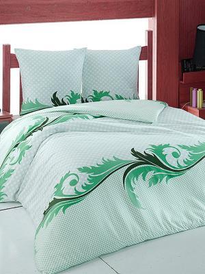 Комплект постельного белья Изумруд Тет-а-Тет. Цвет: зеленый