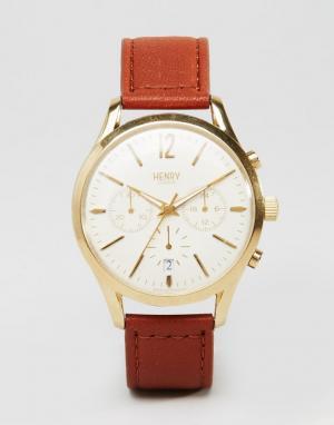 Henry London Часы Westminster HL39-CS-0014. Цвет: коричневый